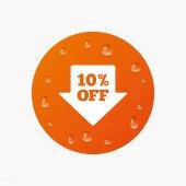 10 percent sale arrow — Stock Vector