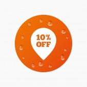 10 percent sale pointer — Stock Vector