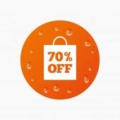 70 percent sale bag — Stock Vector