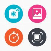 Photo camera icons set — Stock Vector
