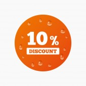 10 percent discount sign icon — ストックベクタ