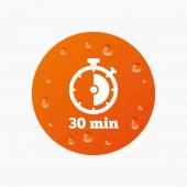 30 minutes stopwatch symbol. — Stock Vector