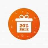 20 percent sale gift box — Stock Vector