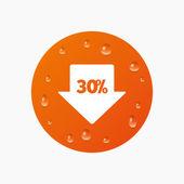 30 percent sale arrow — Stock Vector