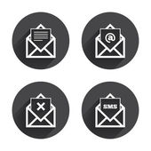 Mail,  envelope, message icons set — Stockvector
