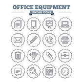 Office equipment icons set. — Stock Vector