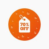 70 percent sale price — Stock Vector