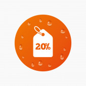 20 percent sale price — Stock Vector
