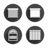 Iconos de las persianas. Plisse, vertical y. — Vector de stock