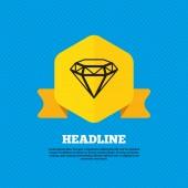 Diamond, jewelry, gem icon — Stock Vector