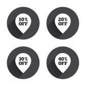 Sale, pointer, discount,  tag icons. — Vecteur