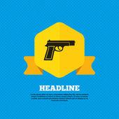 Gun, Firearms, weapon icon. — Stock Vector