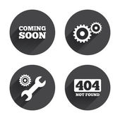 Coming soon, Repair, service icons — Stock Vector