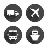 Transport, travel icons. — Stock Vector