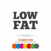 Low fat sign icon — Stock Vector