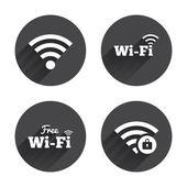 Wifi, Wireless Network icons. — Wektor stockowy