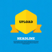 Upload, ícone de carga — Vetor de Stock