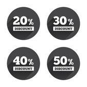 Sale, discount, price icons — Stock Vector