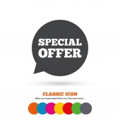 Special offer, sale sign icon. — Stock Vector