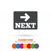 Następny, ikona strzałki, nawigacja — Wektor stockowy