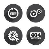 Coming soon, Repair, tool  icons. — Stock Vector