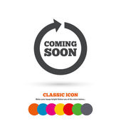 Coming soon,  Promotion icon — Stock Vector