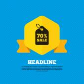 70 percent discount, sale icon — Stock Vector