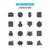 Business line icons. — Stock Vector