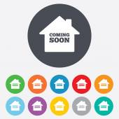 Homepage coming soon icons — Stock Vector
