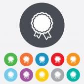 Award icons. Best guarantee symbols — Stock Vector