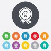 Award smile icons — Stock Vector