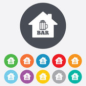 Bar or Pub sign icons — Stock Vector
