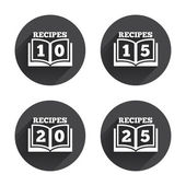 Cookbook icons.  book signs — Stock Vector
