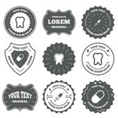 Tooth enamel icons. — Stock Vector
