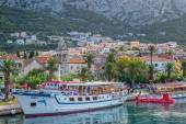 Boat in Makarska — Stock Photo