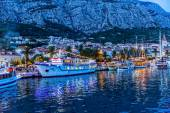 Makarska by night — Stock Photo