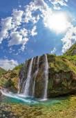 Waterfall Krcic fisheye — Stock Photo