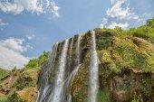 Waterfall top springtime — Stock Photo