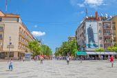 Moder teresa street i pristina — Stockfoto