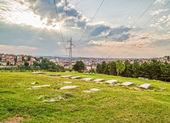 Joodse begraafplaats in pristina — Stockfoto
