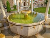 Ablution pool in Fatih Mosque, Pristina — Stock Photo