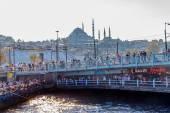 Istanbul Galata bridge — Stock Photo