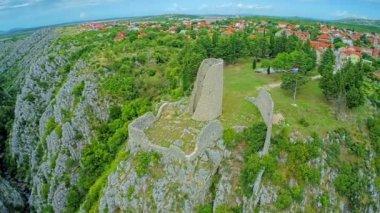 Gradina fortress — Stockvideo