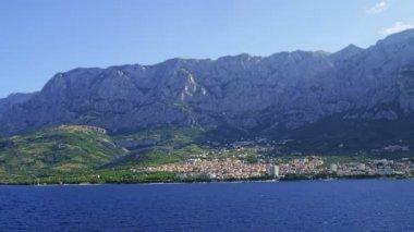 Panorama of Makarska — Stock Video