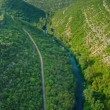 Krka river canyon aerial — Stock Video #61664965