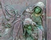 Cemetery pieta statue — Stock Photo