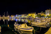 Supetar port by night — Stock Photo