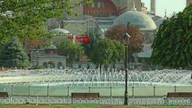 Hagia Sophia pan Istanbul — Stock Video