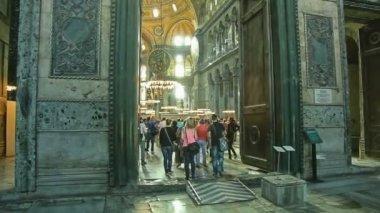 Hagia Sophia Interior entrance Istanbul — Vidéo