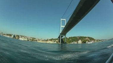 First Bosphorus bridge fisheye shot — Stock Video
